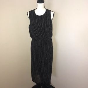 NWT Sunny Girl Black White Polka Dot Dress